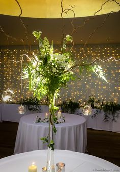 Back-lit by natural light from the domed roof at Matara Centre adding even more drama to what is already a pure 'impact' design by top Bristol wedding florists The Wilde Bunch. 'Expect the Unexpected'.A wow on every table centre! Wedding Bouquets, Wedding Flowers, Table Centers, Florists, Centre Pieces, Bristol, Natural Light, Greenery, Drama
