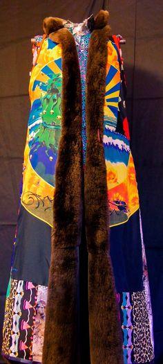 Psychedelic Mink Coat Reversible Festival Wear by MDMAtelier