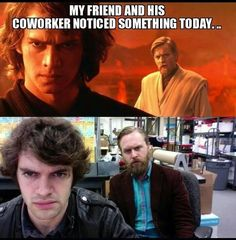 Work memes are for anyone who's had a lousy boss, annoying coworker or lives for the weekend. Make your day a lot more fun at the office with these hilarious work memes. Star Wars Rebels, Star Trek, Plus Tv, Star Wars Jokes, The Force Is Strong, Fandoms Unite, Love Stars, Clone Wars, I Laughed