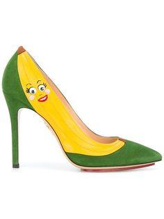 Shop Charlotte Olympia banana pumps.