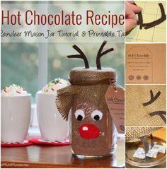 Hot Chocolate Recipe - 12 Magnificent Mason Jar Christmas Decorations You Can Make Yourself