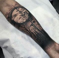 75 Tree Sleeve Tattoo Designs For Men - Ink Ideas With Branches Tattoo Arm Mann, Ink Tattoo, Body Art Tattoos, New Tattoos, Cool Tattoos, Tattoo Tree, Epic Tattoo, Buddha Tattoos, Cool Forearm Tattoos