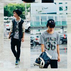 H&M Cap, H&M College Tshirt, H&M Pants, Nike Sneaker