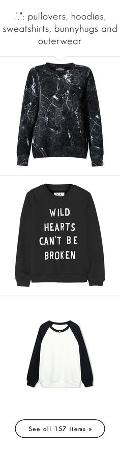 """"""".'.*: pullovers, hoodies, sweatshirts, bunnyhugs and outerwear"""" by demigod-wizard-hacked-elf ❤ liked on Polyvore featuring tops, hoodies, sweatshirts, black, print top, urban sweatshirts, side zip sweatshirt, marble top, marble print top and sweaters"""