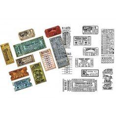 Tim Holtz Ticket Booth Stamp and Die set