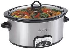 Crock-Pot Smart Programmable Slow Cooker, Stainless Steel Only 10 In Stock Order Today! Product Description: This Crock-Pot Smart Pot Programmable Slow Cooker is a wonderful choice for 4 Quart Slow Cooker, Slow Cooker Huhn, Crock Pot Slow Cooker, Slow Cooker Chicken, Crock Pots, Rice Cooker, Slow Cooking, Cooking Time, Cooking Light