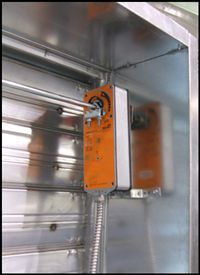 Combination Fire And Smoke Damper Fire Detection System Activates The Smoke Exhaust Fans