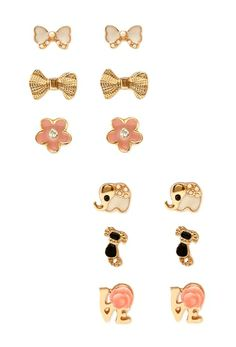 Femme Flower Stud Set from FOREVER 21 on Catalog Spree, my personal digital mall.