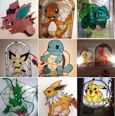 Pokemon stained glass art copy