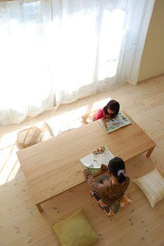クルミ長方形ローテーブルtypeS / カグオカ