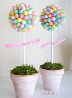 Easter Ideas: Decorate The Table With A Jelly Bean Topiary Centerpiece