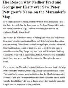 but then how did harry see him the first time? he didn't know pete was an animagi (or even ALIVE) yet????