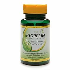 Natural Remedies For Headache Migrelief Caplets, Migraine Relief Triple Therapy - Severe Headache, Tension Headache, Sinus Remedies, Allergy Remedies, Natural Headache Remedies, Foods For Migraines, Chronic Migraines, Natural Remedies