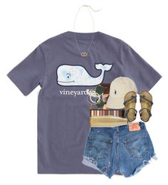"""day one!!"" by ellaswiftie13 ❤ liked on Polyvore featuring Vineyard Vines, Levi's, Birkenstock, Urban Decay, S'well, tarte, Polo Ralph Lauren, Ray-Ban, Alex and Ani and Kendra Scott"