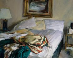 Marc Whitney Unmade Bed with Red and Green Blanket century Unmade Bed, Green Blanket, Gcse Art, Unique Art, Art Inspo, Painting & Drawing, Contemporary Art, Drawings, Artwork