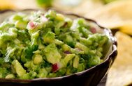 Guacamole with Jicama Sticks instead of chips!2 avocados 1/2 small red onion, finely diced 1 small tomato, finely diced 1 jalapeno pepper, minced (use seeds if you like it hot) 1/4 bunch cilantro, minced Juice of one lime 1/2 teaspoon sea salt 1/2 teaspoon pepper 1 large jicama