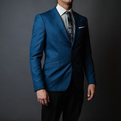 Formalities Suit Jacket, Suits, Jackets, Blue, Fashion, Moda, Fasion, Wedding Suits, Fashion Illustrations