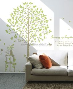 Growing Up Together Tree Wall Decals– WallDecalMall.com