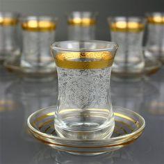 Rumeysa Altın 12 Parça Çay Takımı