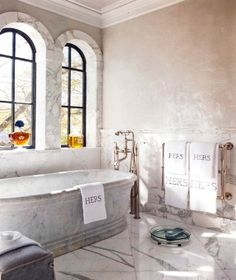 Perfect His and Her Bath | Betty Lou Phillips | Content in a Cottage