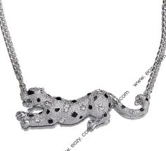 50cm Silver Leopard Shape Alloy Necklace for Jewelry Decoration