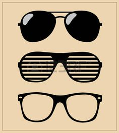 set of sunglasses  vector illustration background  photo