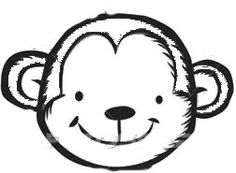 Birthday ideas on pinterest koalas koala bears and for Monkey face coloring pages