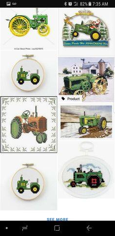 Farm Yard, Hens, Tractors, Cross Stitch Patterns, Rooster, Cow, Barn, Animals, Punto De Cruz
