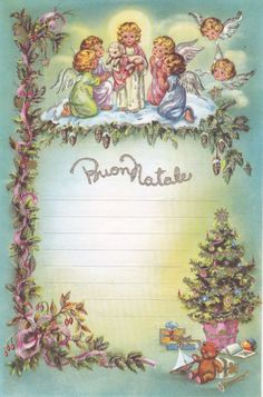 List Christmas with Glitter _ Unwritten _ Cecami Christmas Angels, Vintage Christmas, Christmas Cards, Xmas, Decoupage Vintage, My Roots, Old Postcards, Christmas Printables, Vintage Cards