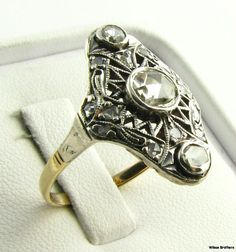 1850s-70s vintage rose-cut diamond ring