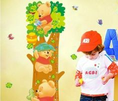 Winnie Pooh - Kids Growth Chart Decal by Loudocean. $9.99. Very easy to Install. Peel and Stick on the Wall.. Keep track of your kid's height with our Giraffe growth chart wall decals! These  charts are easy to apply.. Save 50%!