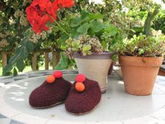 Rich Brown Pure Wool Felted Baby Shoes by TissaGibbons on Etsy, Felt Baby Shoes, Baby Booties, Wool Felt, I Shop, Knitting Patterns, Kids Rugs, Pure Products, Etsy, Brown