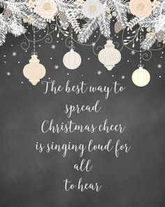 The best way to spread Christmas Cheer is singing loud for all to hear! Free Christmas printable from dandelionpatina.com