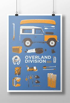 Inspired by overland trips this print features a Series Land Rover and all the kit. Printed onto 190gsm FSC approved stock. Listing is for a print