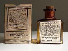 POISON Antique/VTG Pharmacy Apothecary Medicine Bottle STRYCHNINE ARSENATE RX179