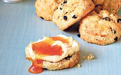Orange scented currant scones - serve these fruity scones with a generous smear of jam and a dollop of clotted  cream.