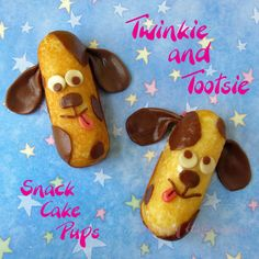 Hungry Happenings: Meet Twinkie and Tootsie, my snack cake puppies.