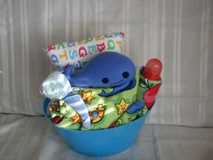 Baby Basket  Whale  free shipping by Sewanutter on Etsy, $60.00