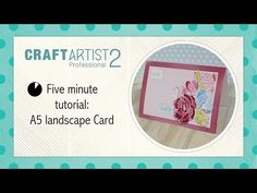 ▶ Create this card in 5 minutes with CraftArtist - YouTube Serif, Digital Scrapbooking, Cardmaking, Making Cards, Card Making, Tally Marks