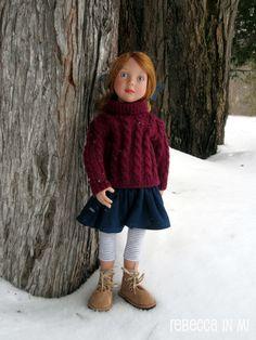 Azalea Zwergnase Junior Doll Hippie Chic, Plein Air, Fur Coat, Dolls, Jackets, Collection, Fashion, Shoe, Moda