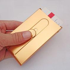 Tuhao Or Carte Boite Hommes Daffaires Automatique De Visite Titulaire Creative Push Style Femmes Cardcase Nom