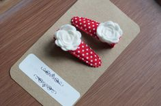 Bitty Clips in Red and White by hopscotchboutique on Etsy, $6.00 Hopscotch, Felt Flowers, Beautiful Hands, Different Colors, Red And White, Boutique, Kids, Handmade, Etsy