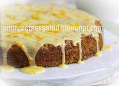 Torta de zanahorias y naranja sin azucar ni grasas animales