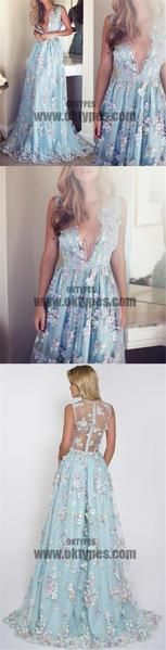 V-neck Sleeveless Blue tulle Appliques Prom Dresses, Affordable Long A-line Prom Dress, - Wedding Dresses 2019 Best Brindal Wedding Dressses, Wedding Dresses 2018, A Line Prom Dresses, Cheap Wedding Dress, Bridesmaid Dresses, Summer Dresses, Formal Dresses, Long Brown Hair, Affordable Dresses