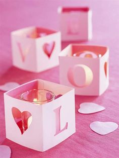 Love cutout candle boxes...cute idea for a party.