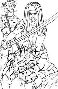 Walking Dead Zombies Coloring Pages