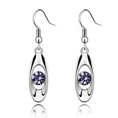 😍**NEW** .925  water drop earrings😍 💞New .925 sterling silver water drop earrings, cz amethyst stone. These are beautiful and elegant. And will look stunning with any outfit, daytime for the office or for a girls night out! Happy poshing y'all, and GOD bless! These are for the amethyst ones in the first pic💞 Jewelry Earrings