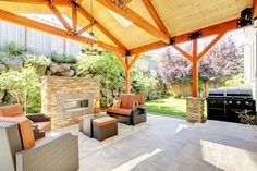 converting half a garage into covered outdoor kitchen - Google Search