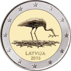 Moneda conmemorativa de 2 euros Letonia 2014,,