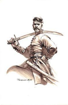 The Majestic Frontier Partisan Art of Anatoly Telenik - Frontier Partisans Character Portraits, Character Art, Comic Tutorial, Serpentina, Landsknecht, Ukrainian Art, Tatoo Art, Historical Art, Fantasy Inspiration